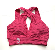 NEW *The Shoulder Cross Over Sports Bra- Brazilian Crunch fabric