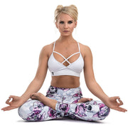 * NEW & LIMITED The Skull Petals High Waist Leggings