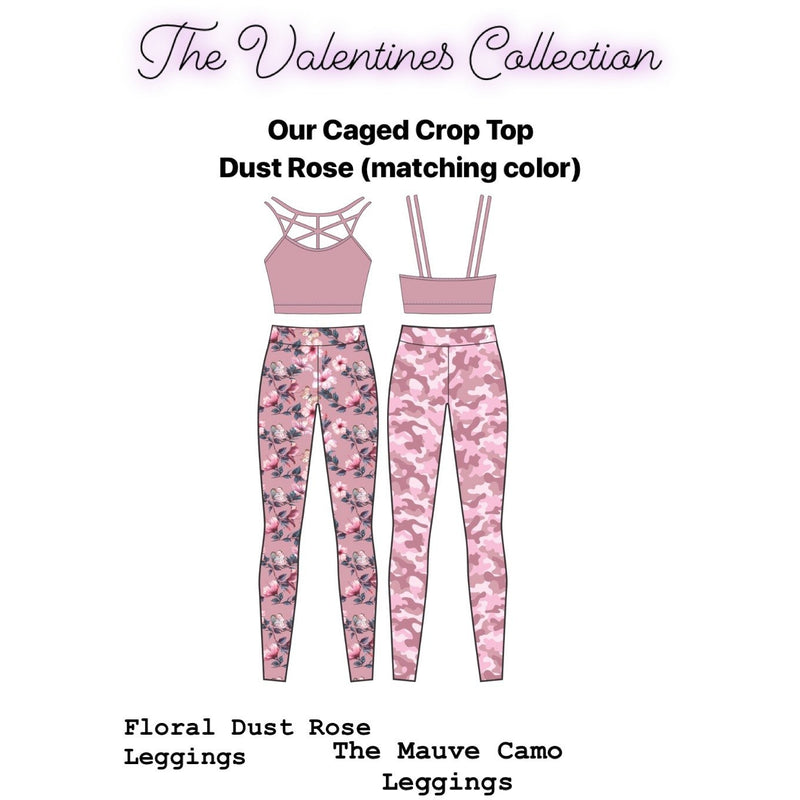 * NEW & LIMITED The Mauve Camo High Waist Waist Leggings