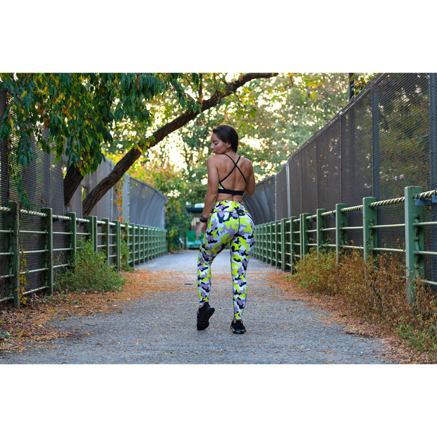 *NEW & LIMITED The Neon Camo High Waist Leggings
