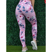 * NEW & LIMITED The Floral Dust Rose Waist Leggings