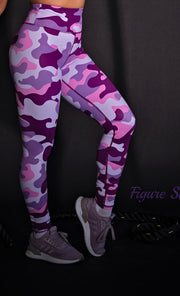 *NEW & LIMITED The Violet Camo High Waist Leggings