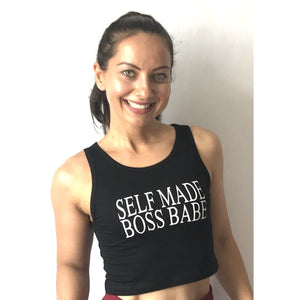 """Self Made Boss Babe"" Crop Top"