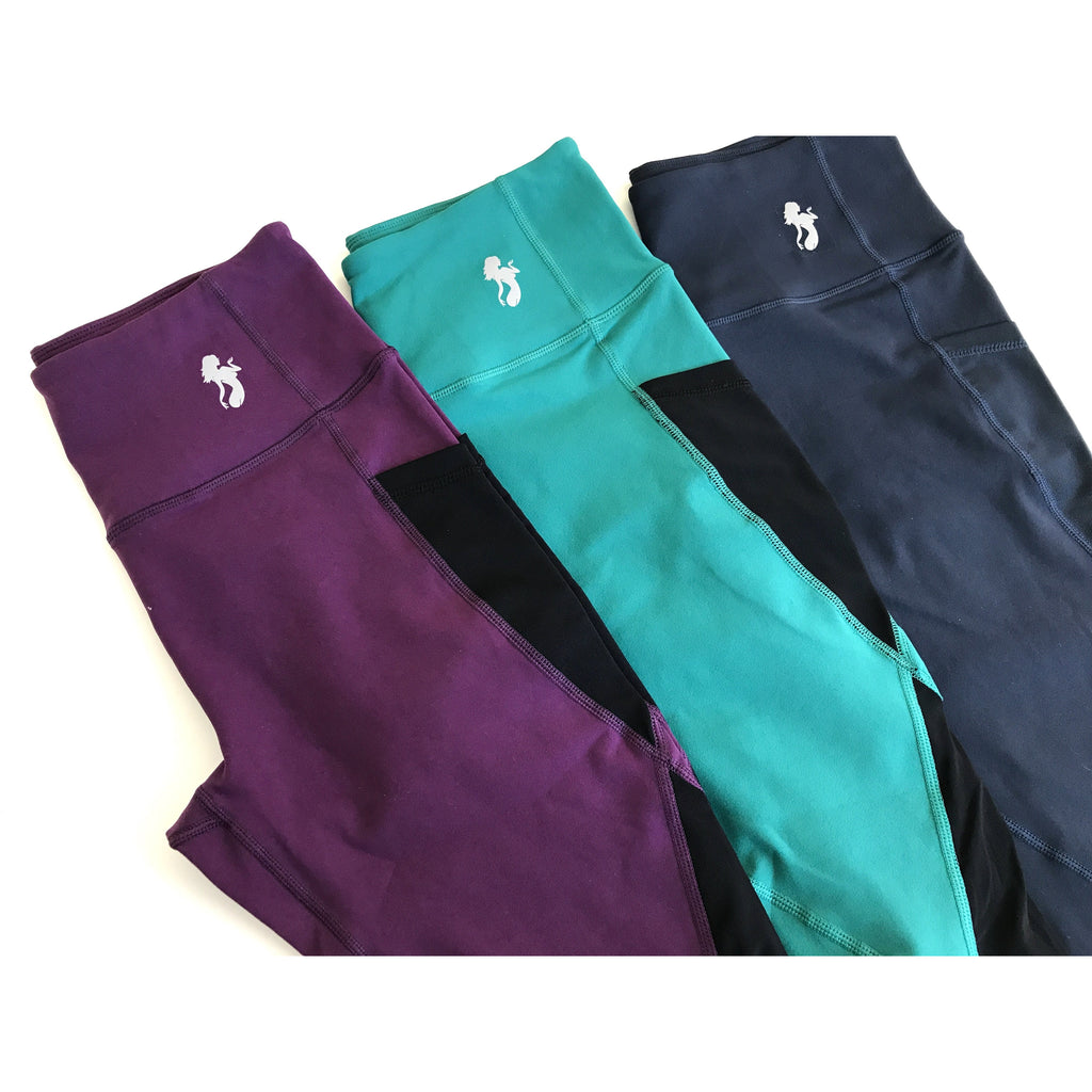 *NEW* The Performance LEGGINGS in Teal/ Plum/ Indigo