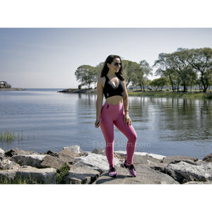 *BubbleGum High Waist Brazilian Crunch Leggings