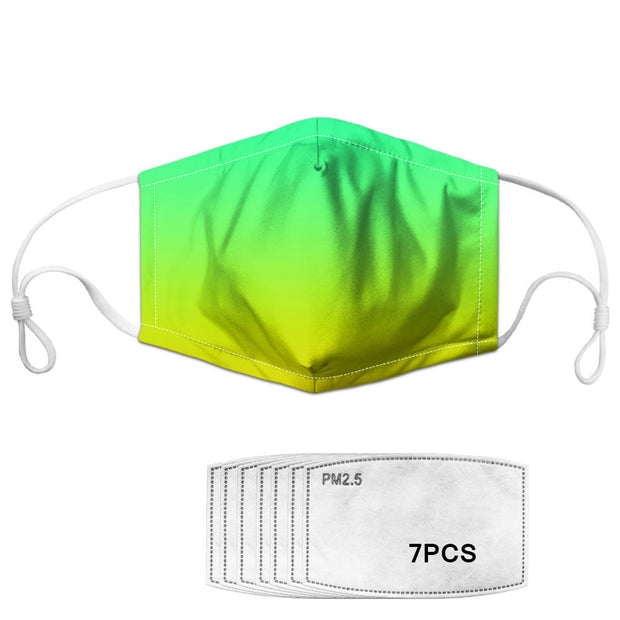 Double Layer Fabric Mask with 7 (PM2.5 FILTERS included)