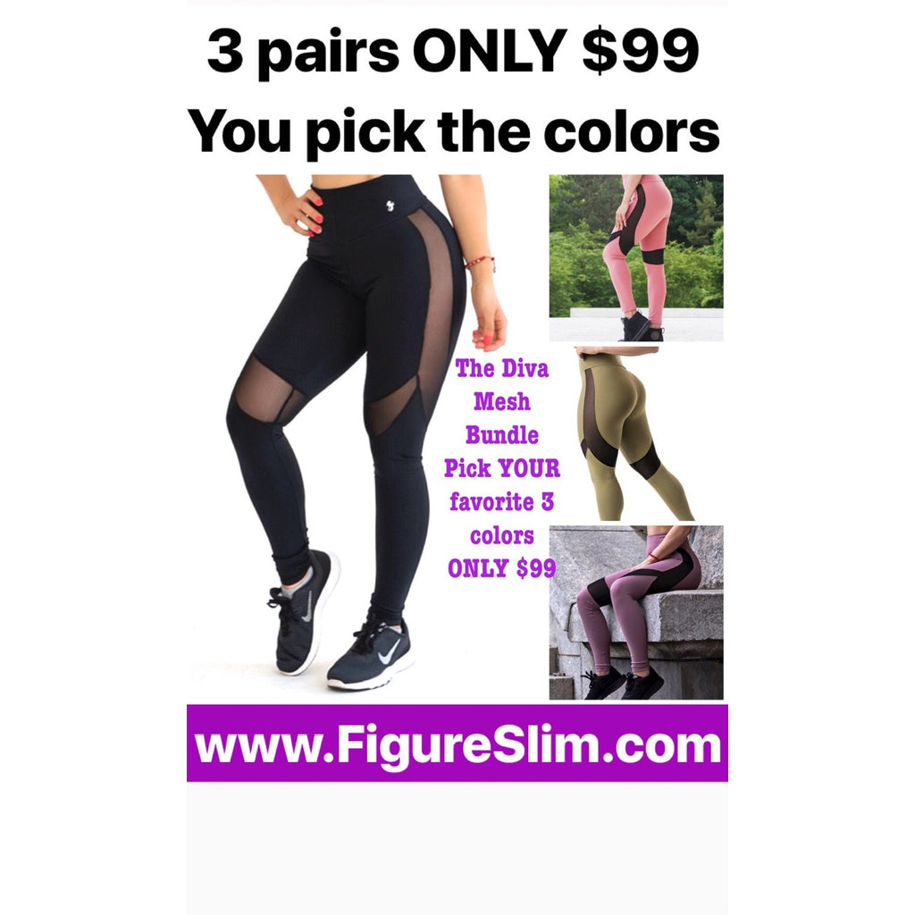 *DOORBuster* Diva Mesh Leggings Bundle