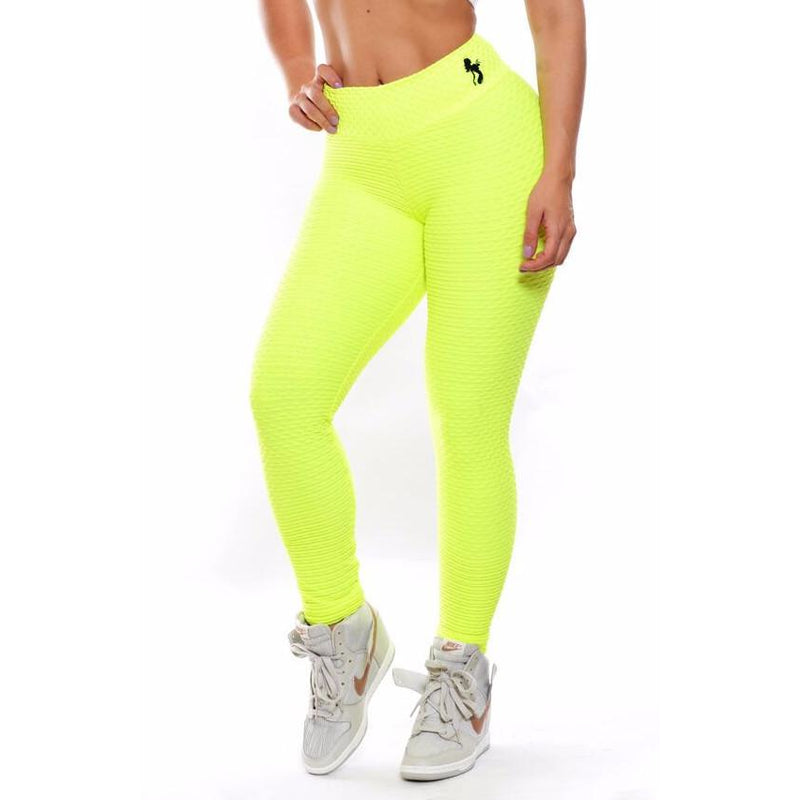 *Lime High Waist Brazilian Crunch Leggings