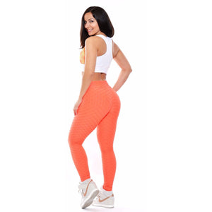 *Tangerine High Waist Brazilian Crunch Leggings