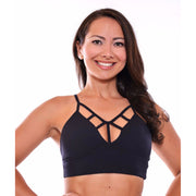 *The Risque Sports Bra in White, Neon, Red, Royal Blue & Black