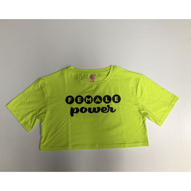 """Female Power"" Loose Crop Top"