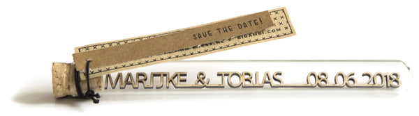 Naam en trouwdatum herinnering of save the date