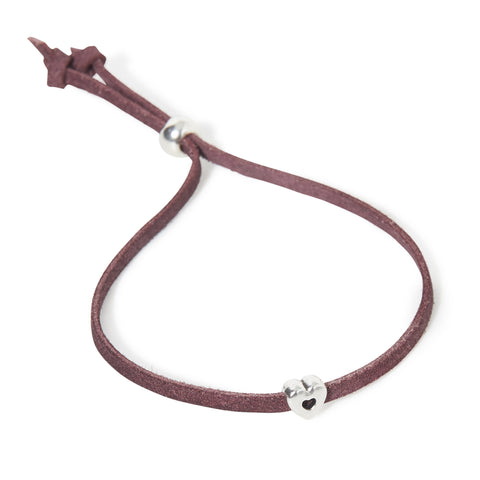 Hilliebags Leather Bracelet - Bordeaux