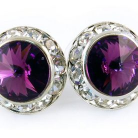 Amethyst Earrings - Patrick J Design.com, dance wear, costum costumes, dance