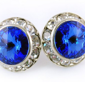 Sapphire Earrings - Patrick J Design.com, dance wear, costum costumes, dance