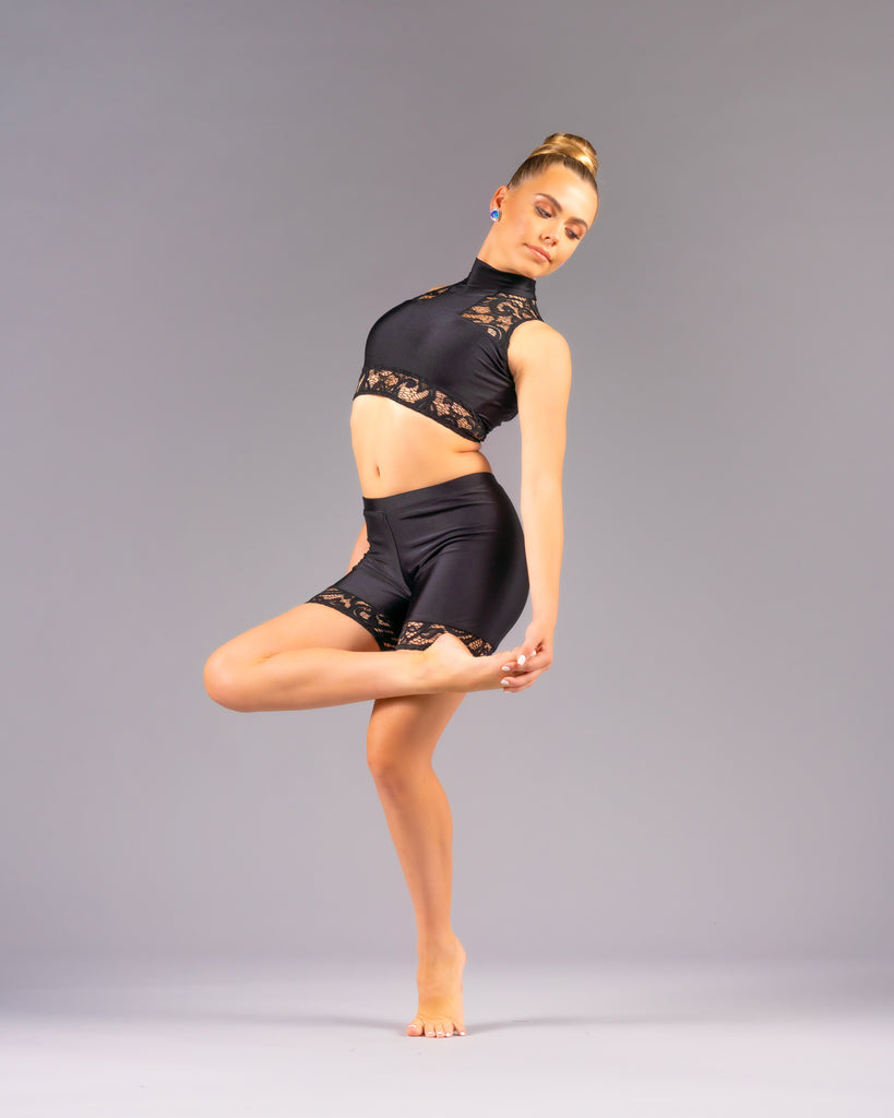 Alyza Shorts Set - Patrick J Design.com, dance wear, costum costumes, dance