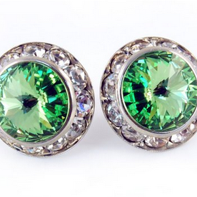 Peridot Earrings - Patrick J Design.com, dance wear, costum costumes, dance