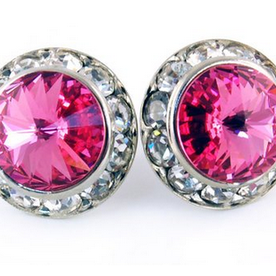 Rose Earrings - Patrick J Design.com, dance wear, costum costumes, dance