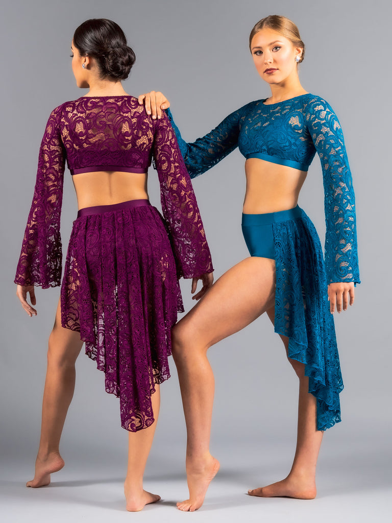 Rose Lace Skirt - Patrick J Design.com, dance wear, costum costumes, dance