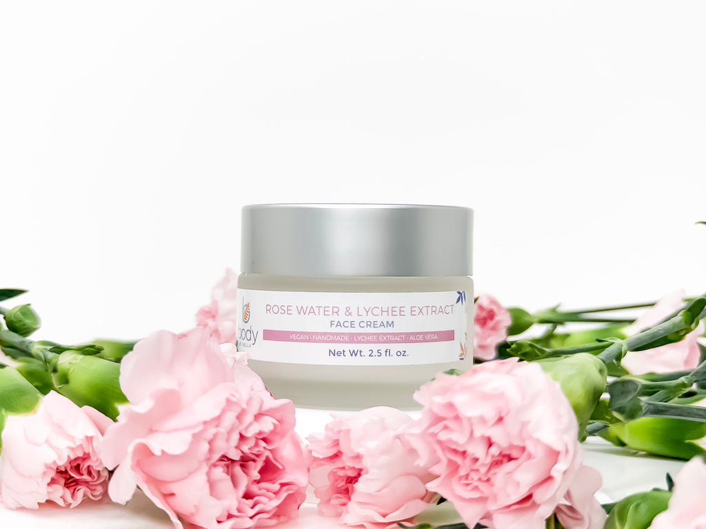 Rose Water and  Lychee Extract Face Cream