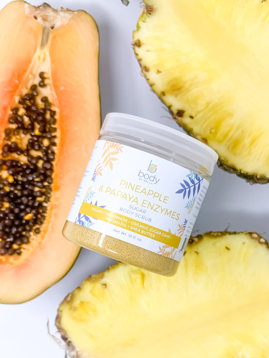 Pineapple and Papaya Enzymes Sugar Body Scrub
