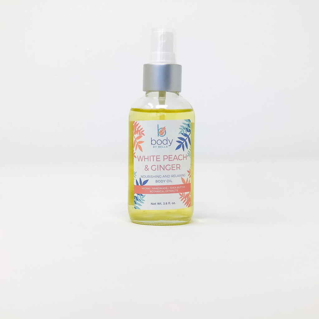 White Peach & Ginger Body Oil