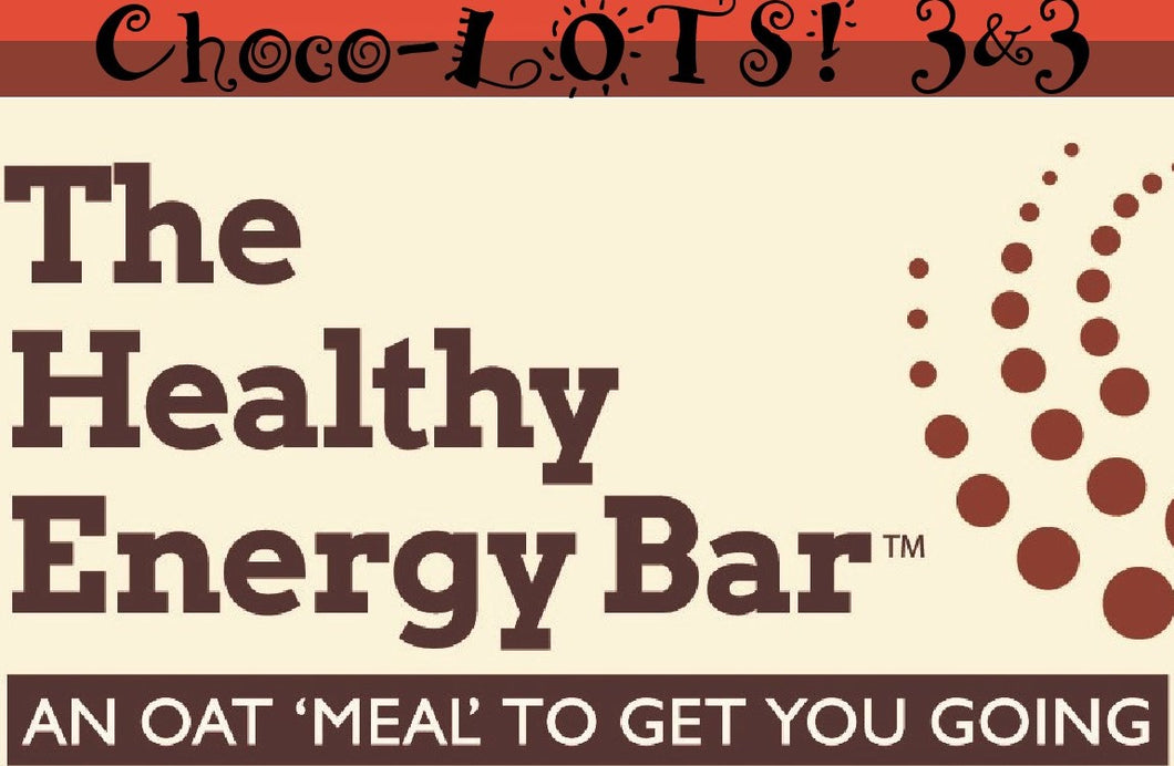 The Healthy Energy Bar (2 ounce) CHOCO-LOTS 3&3 (Six Pack)