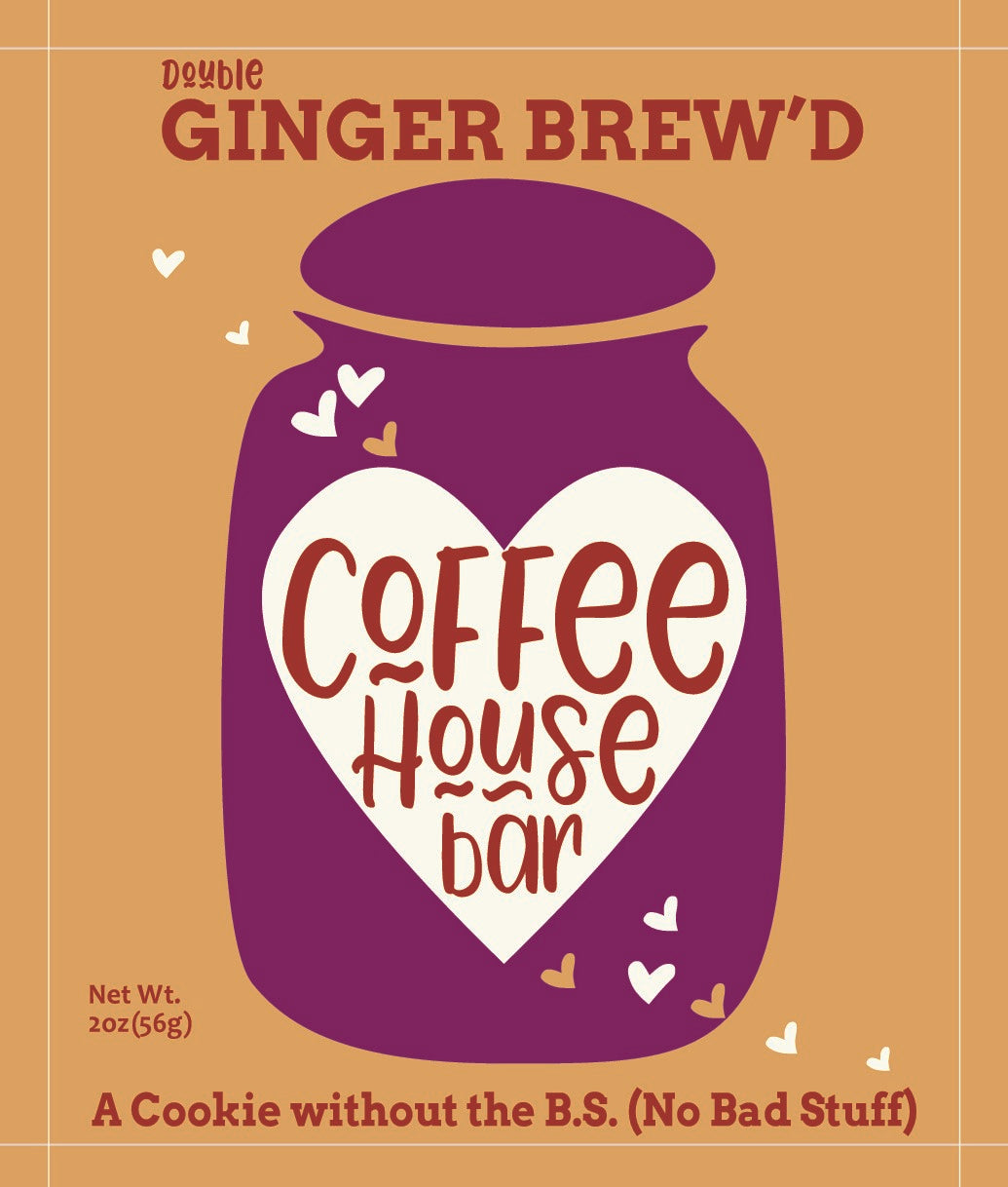 Coffee House Bar - (2 ounce) Ginger Brew'd (Six Pack)
