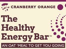 Load image into Gallery viewer, The Healthy Energy Bar - (2 ounce) Cranberry Orange - Six Pack