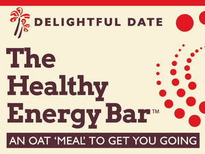 The Healthy Energy Bar - (2 ounce) Delightful Date - Six Pack