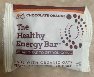 THE Bar - CHOCOLATE ORANGE - The Healthy Energy Bar (six-pack/12 ounces)