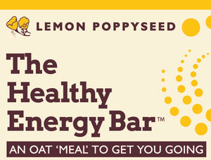 The Healthy Energy Bar - (2 ounce) Lemon Poppy Seed - Six Pack