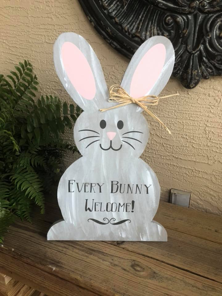 Welcome Every Bunny Easter Cutout