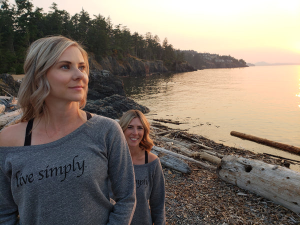 'Live Simply' Slouchy Pullover