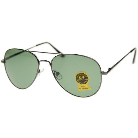 8009 - Aviator Metal Sunglasses