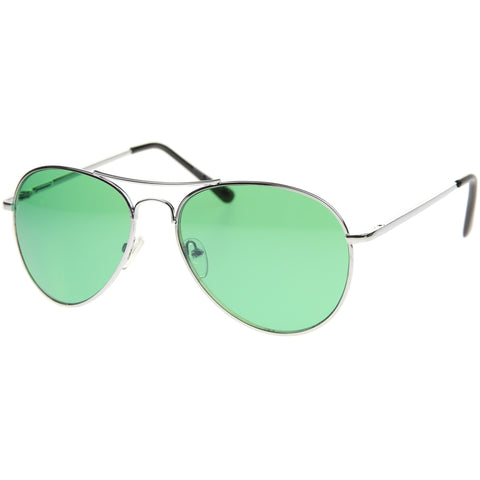 30011C - Color Aviator Metal Sunglasses