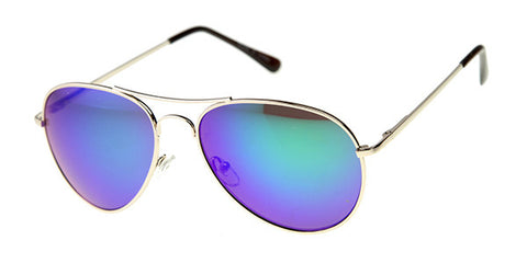 30011A - Metal Mirror Aviator Sunglasses
