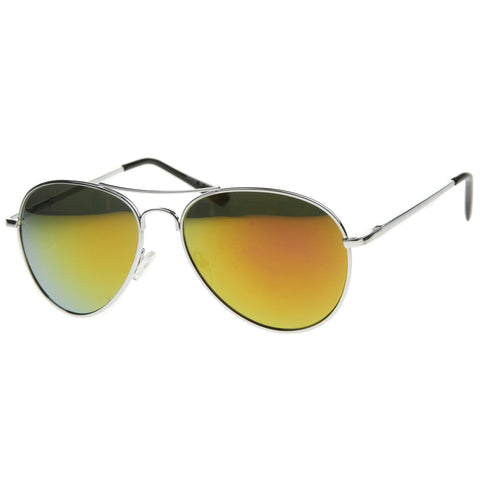 30011R - Aviator Mirrored Metal Sunglasses