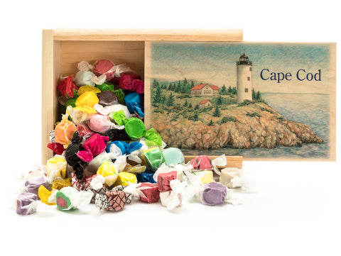 Lighthouse Wooden Slider box with Signature Taffy
