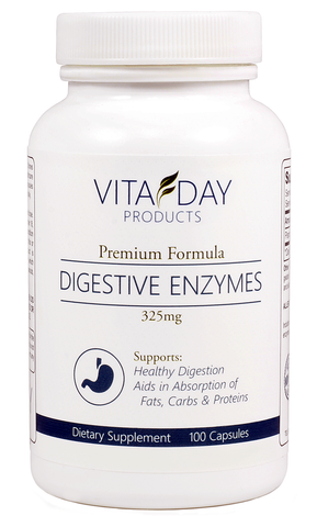 Digestive enzymes for bloating and gas