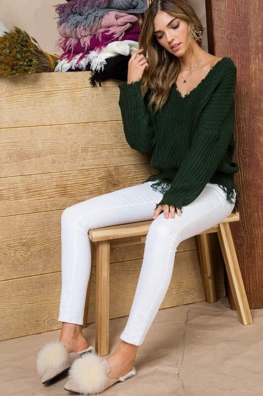 FRAYED LOVE SWEATER