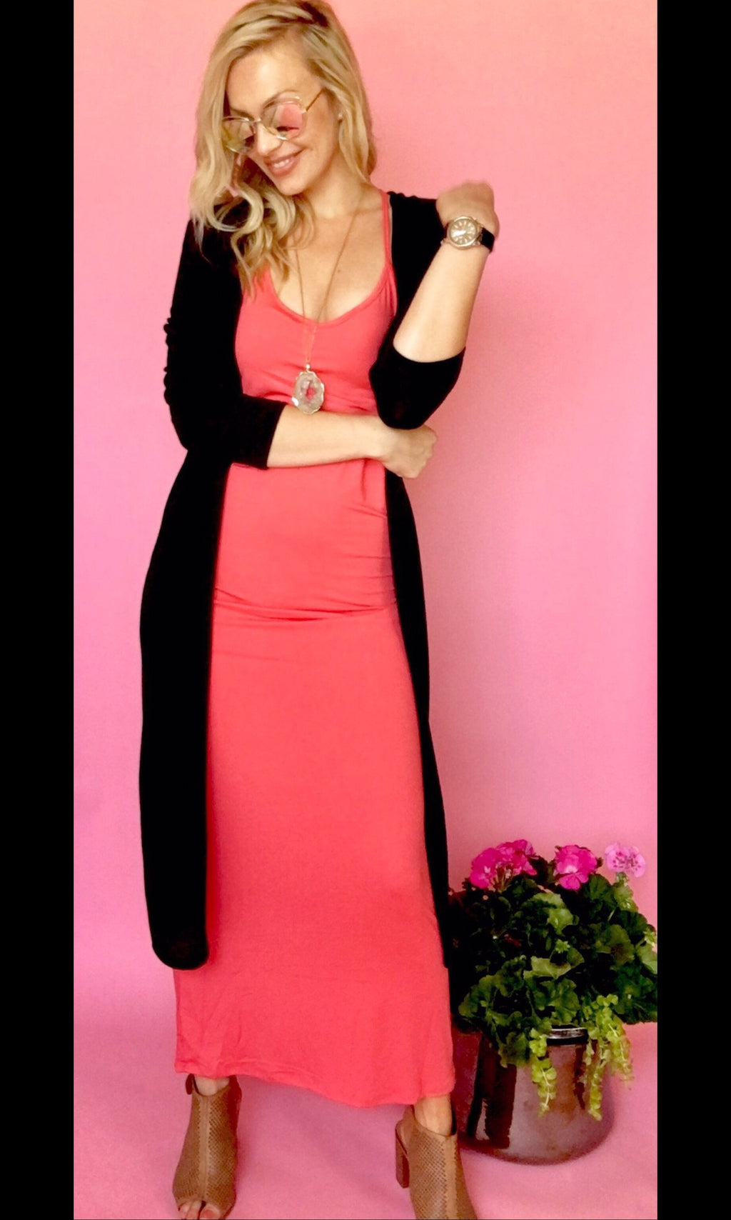 SPRING MAXI DRESS - CORAL
