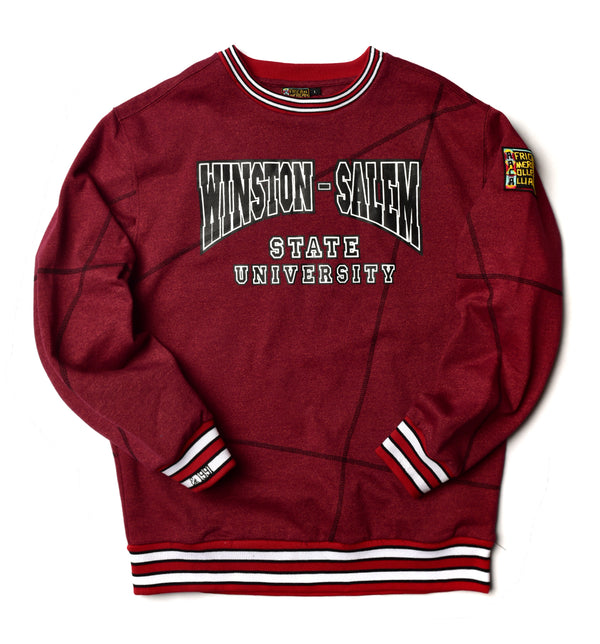 "Winston-Salem State University Original '92 ""Frankenstein"" Crewneck Red Heather/Black"