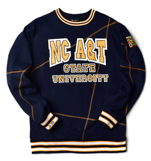 "North Carolina A&T University Original '92 ""Frankenstein"" Crewneck Navy/Gold"