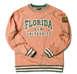 "Florida A&M University Original '92 ""Frankenstein"" Crewneck Butter Rum / Kelly Green"