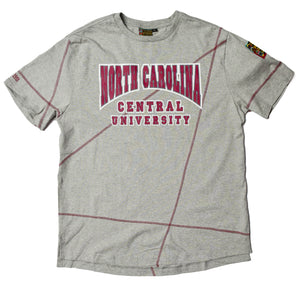 "North Carolina Central University Classic ""Frankenstein"" Crewneck T-Shirt MDH Grey/Maroon"