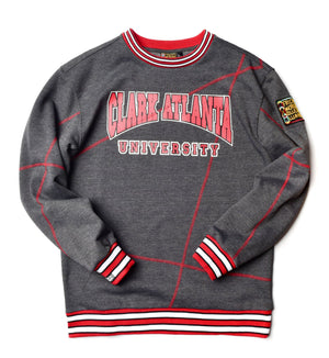 "Clark Atlanta University Original '92 ""Frankenstein"" Crewneck Charcoal Grey/Red"