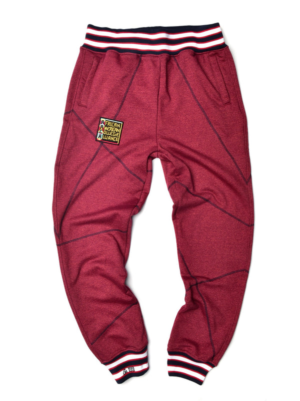 "AACA Original '92 Sweatpants ""Frankenstein"" Stitch Red Heather/Navy"