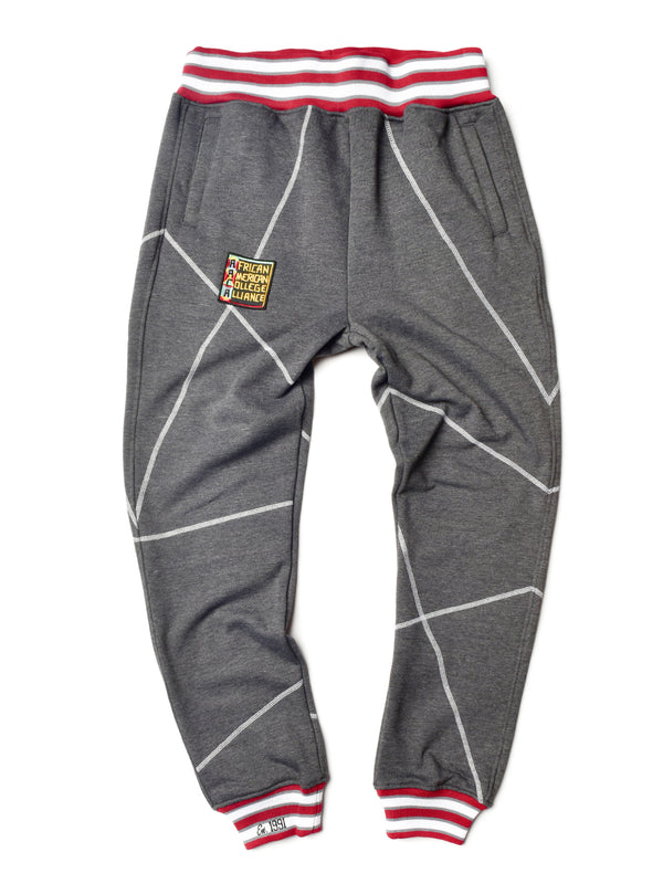 "AACA Original '92 ""Frankenstein"" Stitched Sweatpants Charcoal Grey/White"