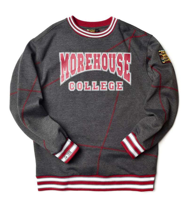 "Morehouse College Original '92 ""Frankenstein"" Crewneck Charcoal Grey/Maroon"